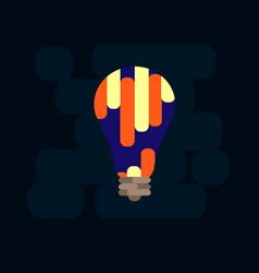 light bulb shape as inspiration concept vector image