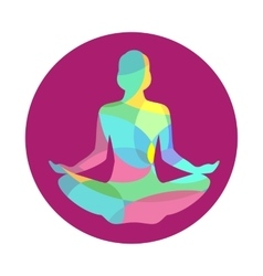 Lotus yoga pose icon abstract vector