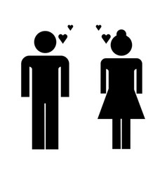 loving couple icon vector image