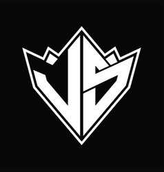 Ls logo monogram design template vector