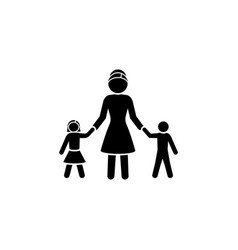 mom with children mom with daughter and son vector image