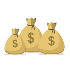 money bag lot bunch bags money vector image