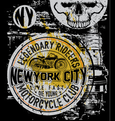 motorcycle company typography t-shirt graphics vector image