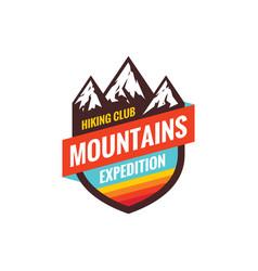 mountains expedition - concept badge climbing vector image