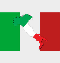 National italy flag vector
