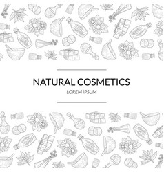 natural cosmetics banner template eco organic vector image