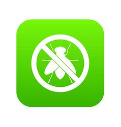 no fly sign icon digital green vector image