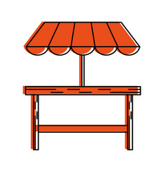 outdoor table setting eating outdoors icon image vector image
