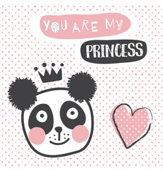 Panda princess vector