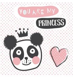 panda princess vector image