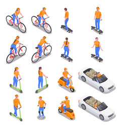 personal transport set vector image