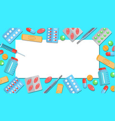 pharmacy flat poster vector image