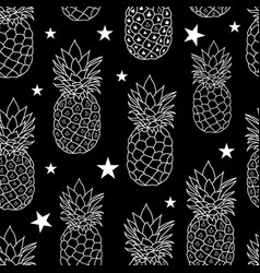 Pineapples stars repeat vector