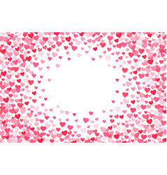 pink red valentines days hearts text box vector image