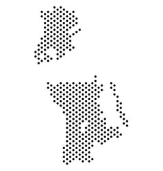 Pixel chinese macau map vector