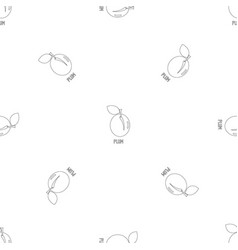 plum pattern seamless vector image