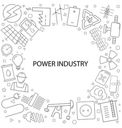 power industry pattern vector image