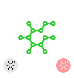 prebiotic icon chemical structure of prebiotic vector image