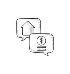 Real estate transaction sketch icon vector image
