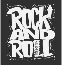 Rock and roll print graphic design t-shirt vector