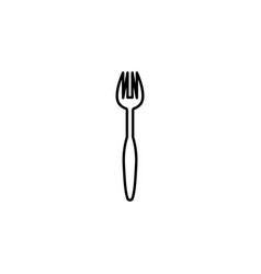 seafood fork icon can be used for web logo mobile vector image