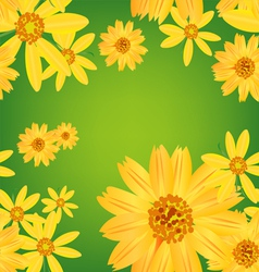 seamless flower leaves pattern background vector image