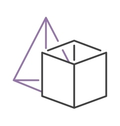 Set geometric shapes platonic solids pyramid vector