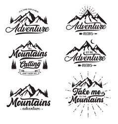 set inspiring typography with text vector image