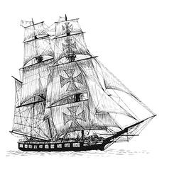 Ship 01 vector