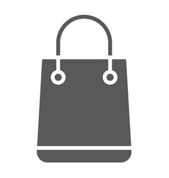 shopping bag glyph icon e commerce vector image