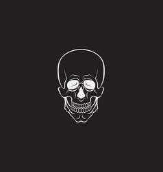 skull monochrome or sign vector image