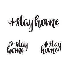 stay home vector image