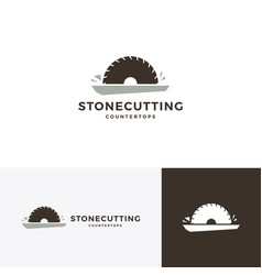 stone cutting and countertop logo icon vector image