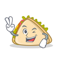 Two finger sandwich character cartoon style vector