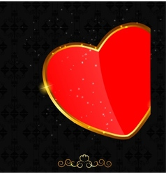 Valentines day love heart backgroung vector image