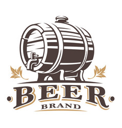 Vintage barrel of beer vector