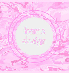 Vintage grunge pink frame design vector