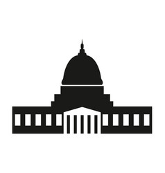 washington capitol with tall columns black vector image