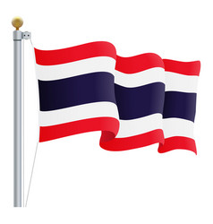 waving thailand flag isolated on a white vector image