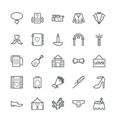 Wedding Cool Icons 4 vector image