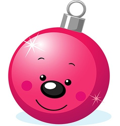 Xmas character - ball decoration with smiling face vector