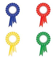 Award ribbon set vector image