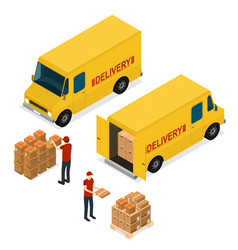 delivery car logistic service isometric view vector image
