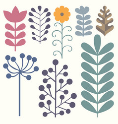 Floral elements collection for your design vector