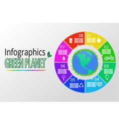 infographics background vector image vector image