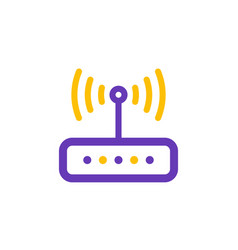 router icon line style vector image