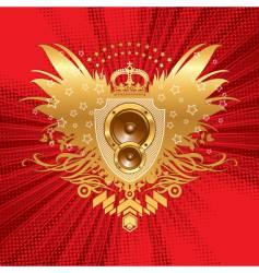 heraldry with loudspeakers vector image vector image