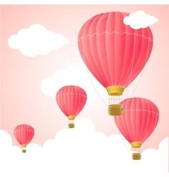 Pink Hot Air Card vector image