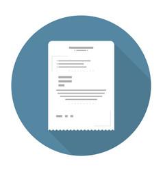 receipt flat icon vector image