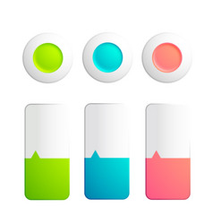 Set of buttons and strips collection vector